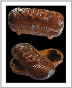 Carved Wakahuia Maori Art, Wood Carving, Wooden Boxes, Wood Art, Decorative Bowls, Woods, Handmade Jewelry, Arts And Crafts, Design