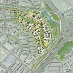 SOM : Beijing Dawangjing CBD Concept Master Plan