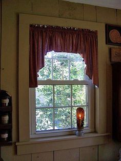 Primitive curtains, The Gingham Goose - Fine Period Reproductions