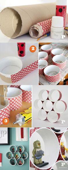 Decoreba Design: DIY - Mini estante de tubo #DIY #wall #tube #carton #simple #DIY