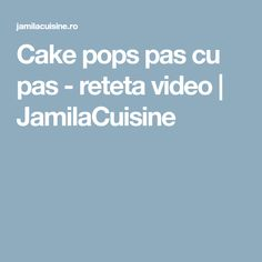 Cake pops pas cu pas - reteta video | JamilaCuisine Cake Pops, Candy, Cake Pop, Sweet, Toffee, Sweets, Cakepops, Candy Bars, Chocolates