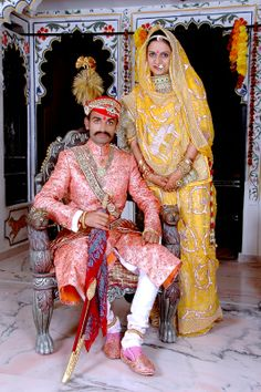 Traditional #RAJPUT couple   Rajdeep Art Studio Udaipur |