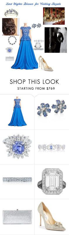 """Last Nights Dinner for Visiting Royals"" by hshprincessgebevieve ❤ liked on Polyvore featuring Naeem Khan, Gucci, Tacori and Jimmy Choo"