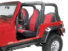 Coverking Front Seat Covers with Jeep® Logo with FREE Rear Cover for Jeep® Wrangler TJ Jeep Wrangler Accessories, Truck Accessories, Custom Jeep, Custom Trucks, 97 Jeep Wrangler, Jeep Jeep, Jeep Store, Jeep Quotes, Jeep Sayings