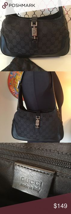 ❤️ GUCCI VINTAGE SHOULDER BAG 💯 AUTHENTIC GUCCI VINTAGE SHOULDER BAG 💯 AUTHENTIC. THE COLOR IS BLACK. NO STAINS, RIPS OR TEARS. LEATHER AND STRAP IS GOOD. JUST A LOVELY BAG. COMES WITH DUST BAG. THE BAG MEASURES 10 INCHES WIDE BY 6 INCHES TALL. THE SHOULDER STRAP HAS A 9 INCH DROP Gucci Bags Shoulder Bags