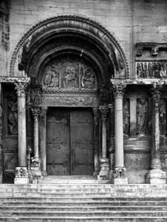 Close Up of Left Portal of Romanesque Church of St. Gilles du Gard, Provence Premium Photographic Print by Gjon Mili at Art.com