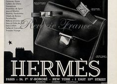 Art Deco Vintage French Ad for Hermes Accessories by reveriefrance