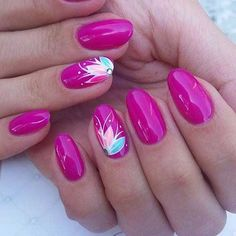 How to succeed in your manicure? - My Nails Pink Nail Art, Flower Nail Art, Pink Nails, Glitter Nails, My Nails, Nail Art Rose, Cruise Nails, Vacation Nails, Uñas Diy