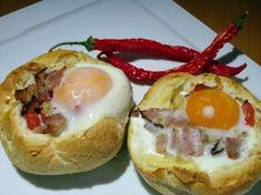 Jajko Zapiekane w Bułce | Przekąski na Imprezę