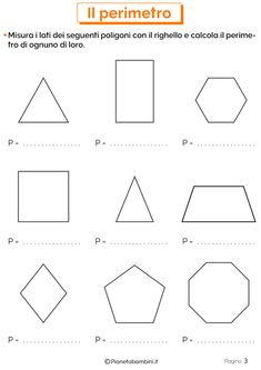Schede didattiche sul Perimetro 3 Math Crafts, Classroom Fun, Math For Kids, Teaching Math, Are You Happy, Worksheets, Homeschool, Coding, Activities