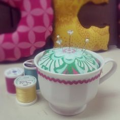Quickie Project! Teacup #pincushion