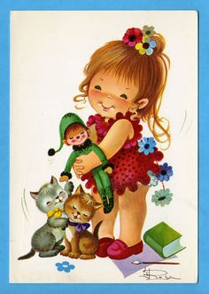 Vintage doll card from the 70's by bluumievintage on Etsy