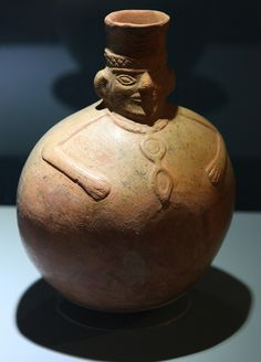 Pot from the Wari, a pre-Columbian culture that existed in Peru from around 500 AD to 1000 AD.