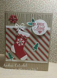 Joyeux Noel Bas de Noel stampinup   Création Catudal
