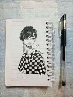 Late night sketch (o) amazing drawings, cool drawings, amazing art, Art Drawings Sketches, Cute Drawings, Amazing Drawings, Amazing Art, Pretty Art, Cute Art, Arte Sketchbook, Copics, Aesthetic Art