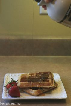 Overnight Yeasted Belgian Waffles