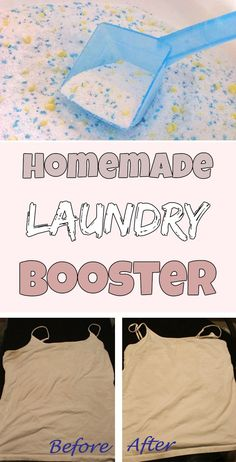 Homemade laundry booster - Cleaning Tips Deep Cleaning Tips, House Cleaning Tips, Diy Cleaning Products, Cleaning Solutions, Spring Cleaning, Cleaning Hacks, Cleaning Recipes, Cleaning Supplies, All You Need Is