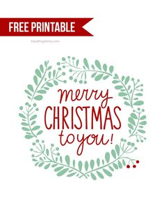 Free printable Christmas tag -would be cute in a frame or tied on a present!