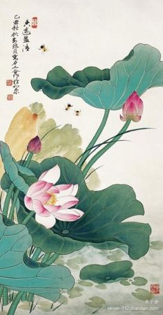 View Lotus by Yu Zhizhen and Liu Lishang on artnet. Browse upcoming and past auction lots by Yu Zhizhen and Liu Lishang. Lotus Kunst, Lotus Art, Lotus Painting, Silk Painting, Japanese Painting, Chinese Painting, Botanical Art, Botanical Illustration, Tattoo Aquarelle