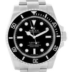 18992 Rolex Submariner Black Dial Oyster Bracelet Mens Watch 114060 Box Card SwissWatchExpo Rolex Submariner Black, Submariner Watch, Rolex Watches For Sale, Luxury Watches For Men, Nice Watches, Stylish Watches, Pocket Watches, Wrist Watches, Vintage Gallery