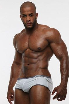 Sexy muscles black man male horny hunk bulge