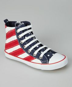 Take a look at this Stars & Stripes Hi-Top Sneaker - Kids by Launch on #zulily today!