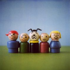 Original fisher price little people--I was the red one.| Join me after the jump, and let'sremember them together. No throwing.