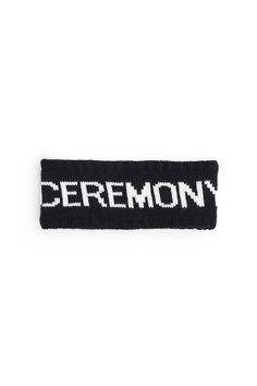 Opening Ceremony Logo, OC Logo Headband , Unisex, Logo print, Rib knit edges, Soft acrylic lining, 100% acrylic, Imported