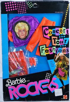 Barbie & The Rockers Concert Tour Fashions #3392 New NRFP 1986 Mattel, Inc. 3+