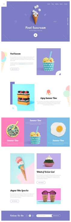 Delicious modern block colors. Very 2017 #Webdesign