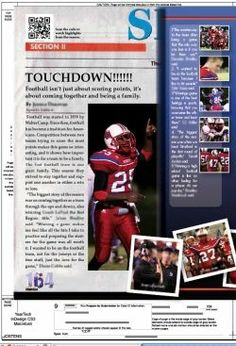 QR Code on Sports Layout in Yearbook