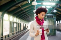View top-quality stock photos of Young Woman Waiting At Subway Station Using Cellphone. Find premium, high-resolution stock photography at Getty Images. African Women, Train Station, Still Image, Young Women, Royalty Free Images, Waiting, Photoshoot, Urban, Stock Photos