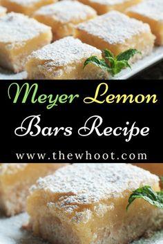 Meyer Lemon Bars Recipe Video Tutorial