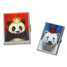 ROYAL PANDA AND POLAR BEAR CASES | Illustrated Business Card Holder | UncommonGoods