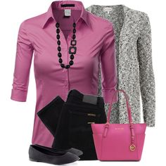 A fashion look from January 2015 featuring purple top, black knit top and mid-rise jeans. Browse and shop related looks.