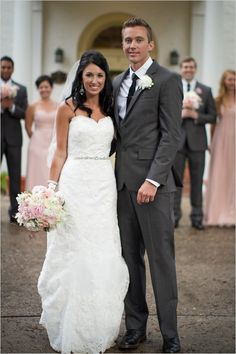 Pink and grey wedding. Love this shade of grey!!