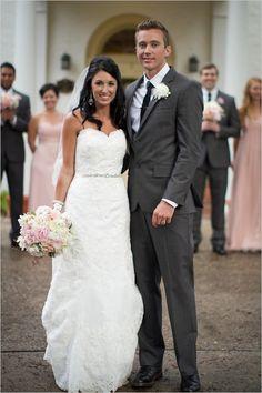 Pink and grey wedding. Love this shade of grey!!