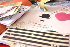 17ème jour : Petits papiers.... Dans mon univers on en trouvera toujours... des petits papiers qui traînent !!