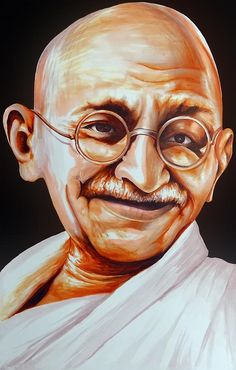 Mahatma Gandhi Painting by Arun Sivaprasad Mahatma Gandhi Photos, Gandhi Quotes, Poster Drawing, Drawing Pics, Indian Freedom Fighters, Indian Art Paintings, Pastel Paintings, Emotional Photography, Portrait Art