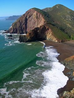 Marin Headlands National Recreation Area, Marin County, California. At the end of the Tennessee Valley trail.