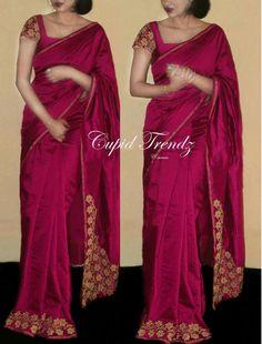 Pinterest: @LAFEMME Sari, Saree Dress, Saree Blouse Patterns, Saree Blouse Designs, Indian Dresses, Indian Outfits, Saree Jewellery, Simple Sarees, Saree Models