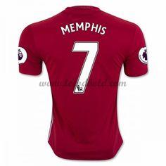 Billige Fodboldtrøjer Manchester United 2016-17 Memphis 7 Kortærmet Hjemmebanetrøje