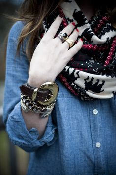 Scarf + chambray
