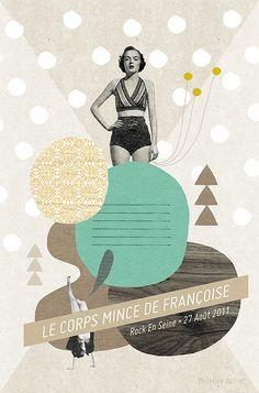 Affiche pour l'exposition Rock'Art ©MathildeAubier #Graphic Design| http://best-graphic-designs-collections.blogspot.com