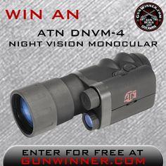 ENDS TOMORROW NIGHT 12-31 Enter to win an ATN Night Vision Monocular from GunWinner
