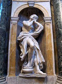 Saint Mary Magdalen - Gian Lorenzo Bernini.  1661-63.  Marble.  Chigi Chapel, Siena Cathedral, Siena, Italy.