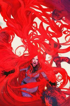 Uncanny Inhumans #6 Women of Power variant cover - Medusa by Bill Sienkiewicz *