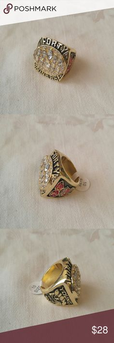Men's 49er Ring Men's 49er Ring, large heavy alloy ring, size 10, new. Accessories Jewelry