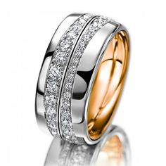 Meister, Ring, Girello, White Gold, Rose Gold, Platimun, Diamonds, Women's Collection Drehringe »Girello« 004