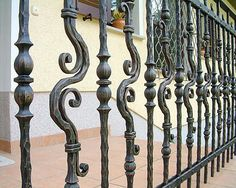 Forged balcony fence #forge #balcony #fence #railing #handmade #handforged #schmiede #kunst #art #blacksmithing #blacksmith #artists Bruno Kalčič